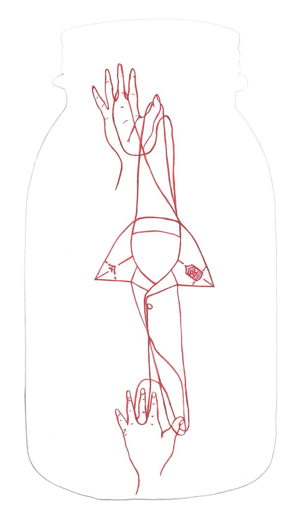 20 strange fruit 27, graphite and gouache on paper, 12 x 9 in..jpg