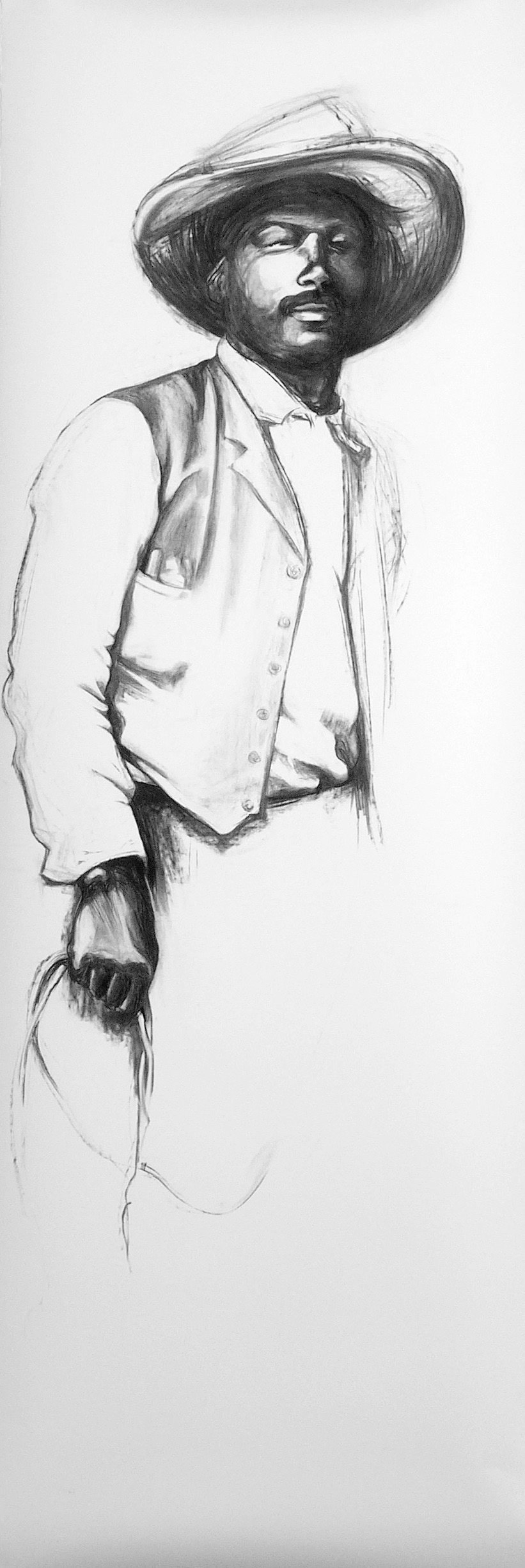 28 Ben Pickett, 2005, Vine charcoal on paper, 89 x 31 in..jpg