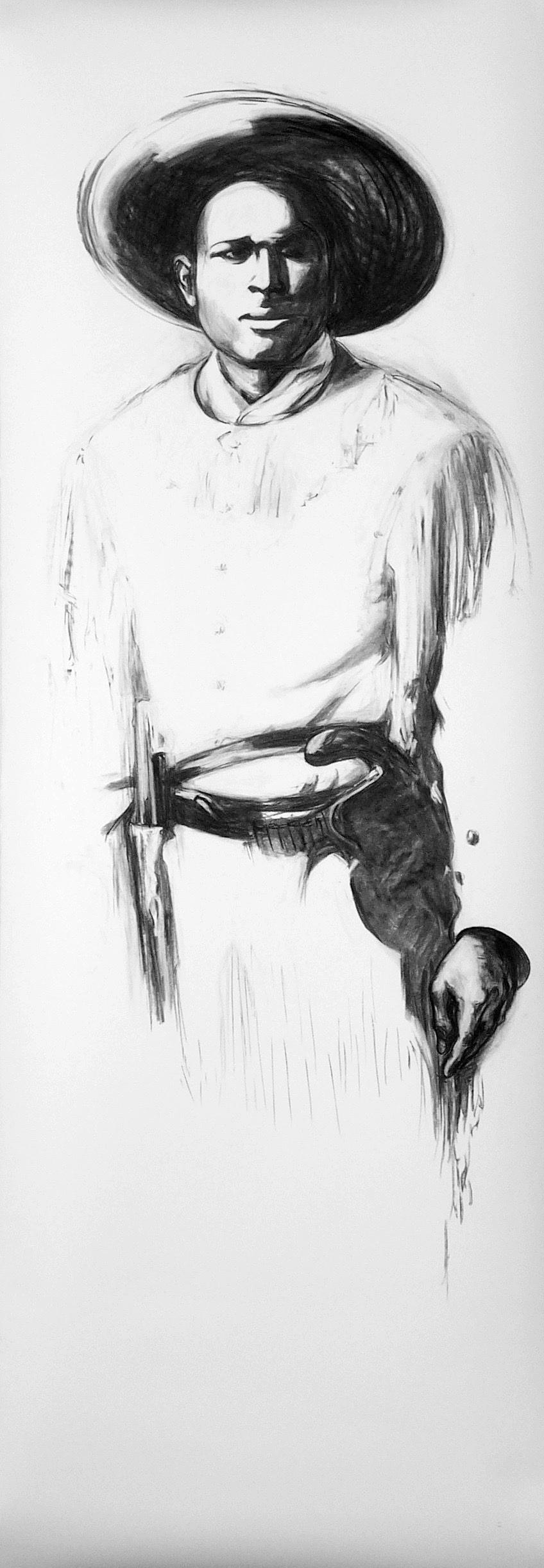 40 Jess, 2005,_Vine charcoal on paper,_89 x 31 in..jpg