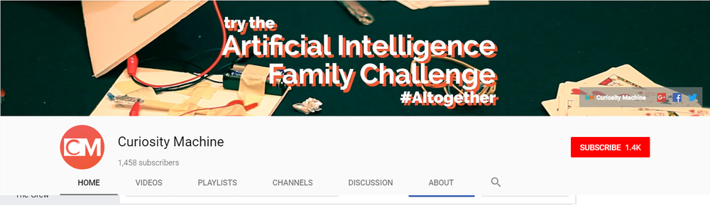 1.4K+ Subscribers on YouTube (Curiosity Machine) 1.4K+ Subscriber on YouTube (Iridescent)  The Curiosity Machine (www.curiositymachine.org) connects scientists and engineers with K-12 students, inspiring them to be more persistent, creative, and curious thinkers! This online learning platform highlights cutting-edge science research and encourages students to build their own engineering designs through hands-on challenges. Powered by Iridescent (www.iridescentlearning.org)    LINKS:   Build a Nanostamp: Nanotechnology Project for Kids    (Click here to watch)