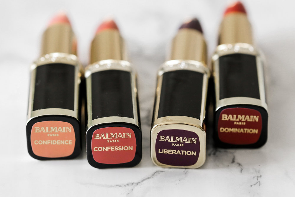 L'Oreal X Balmain Couture LIPSTICK collection - Confidence, Liberation, Domination, Confession Swatches-2079.JPG