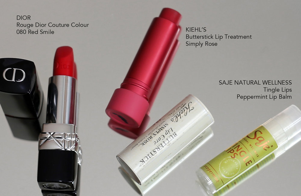 moisturizing lip treatments - dior, saje natural wellness and kiehl's.jpg