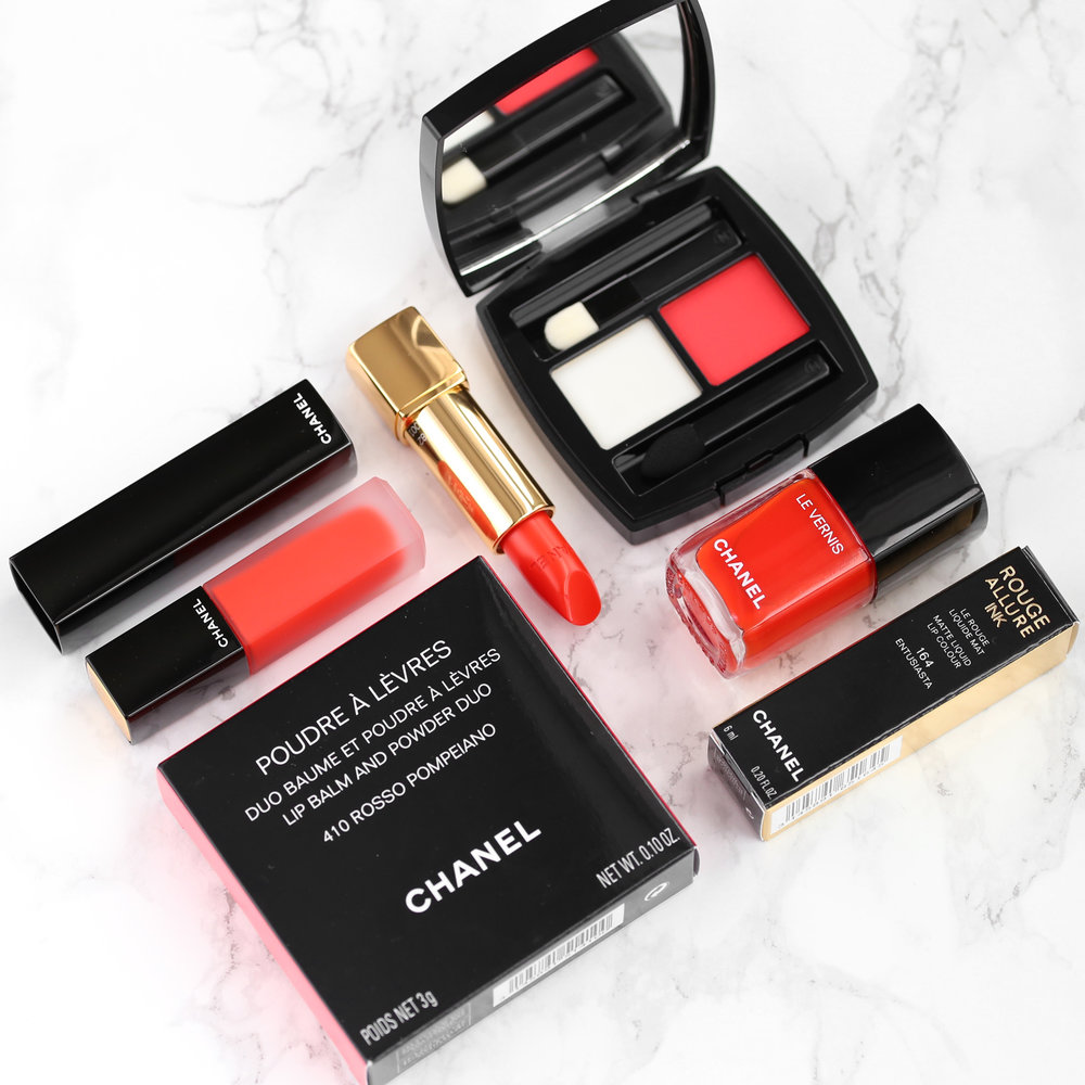 CHANEL POUDRE À LÈVRES LIP BALM AND POWDER DUO in ROSSO POMPEIANO, NAIL POLISH in 634 ARANCIO VIBRANTE, ROUGE ALLURE LUMINOUS INTENSE LIP COLOUR in 182 VIBRANTE, ROUGE ALLURE INK MATTE LIQUID LIP COLOUR in 164 ENTUSIASTA-lipsick.me_6300.jpg