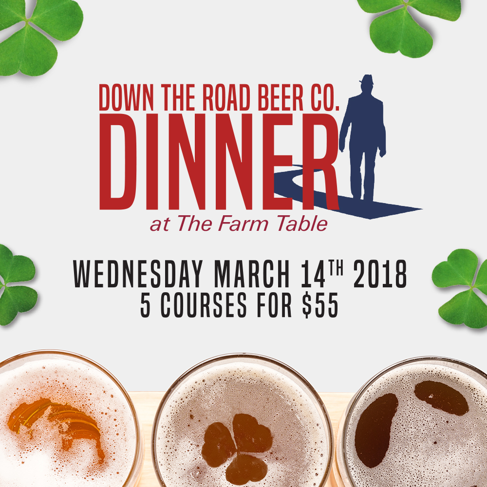 Down The Road Beer Dinner At The Farm Table Down The Road Beer Co - Farm table bernardston ma