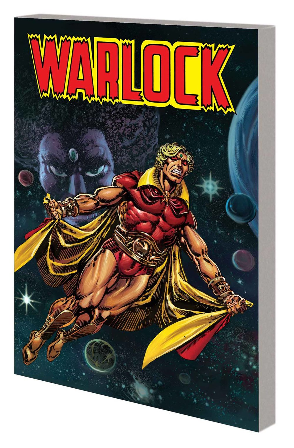 Warlock by Jim Starlin: The Complete Collection - Michael's PickHave you already read The Infinity Gauntlet?  Interested in reading some of the classic cosmic story lines that lead up to it?  The legendary Jim Starlin began planting seeds for what would eventually become the Infinity/Thanos story lines all the way back in the late '60s in his runs on Iron Man and Captain Marvel (available in The Life and Death of Captain Marvel collection).  In the '90s, prior to The Infinity Gauntlet miniseries, he returned Thanos to prominence in his run on The Silver Surfer (collected in part in Silver Surfer: Rebirth of Thanos).  However, my favorite of Starlin's cosmic stories has to be his Adam Warlock run, collected in Warlock by Jim Starlin: The Complete Collection.  Angsty, introspective, psychedelic, and action packed, Warlock is the '70s equivalent of a Grant Morrison superhero comic.  Featuring plenty of Thanos, it also has the first appearances of Pip the Troll and Gamora.  The now classic two-parter that completes the volume has the Avengers, Captain Marvel, Spidey, and the Thing.  Ambitious in its heady scope and absolutely beautiful to look at, Warlock by Jim Starlin: The Complete Collection delivers a sizable and satisfying slice of pre-Infinity Gauntley sci-fi.  Marvel has been mining Starlin's stories for the movies and yet Starlin remains under appreciated by today's comic fans.  Let's rectify that.  Check out Warlock, you won't be disappointed.