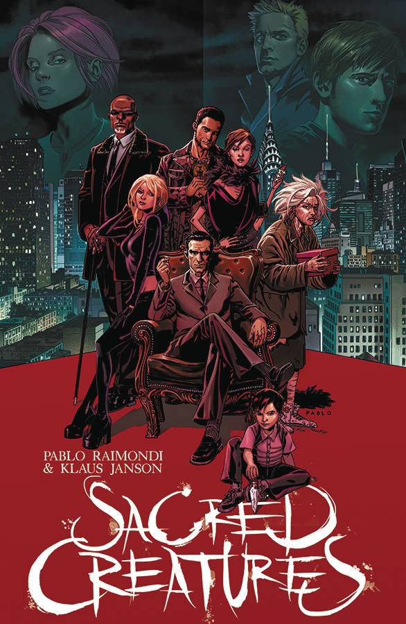 Sacred Creatures #1 - Gib's PickJosh Miller's life seems to be going well, until he's singled out by a dysfunctional and supernaturally powered family.  One event after another, orchestrated meticulously by the mysterious siblings push Josh down a dark road.  The anxiety and helplessness of the main character are perfectly conveyed through the narrative.  The somber colors and solid art lend to that feel.  The first issue, created by Pablo Raimondi (Writer/Artist) and Klaus Janson (Writer), is a large chunk of story, and a very satisfying read.