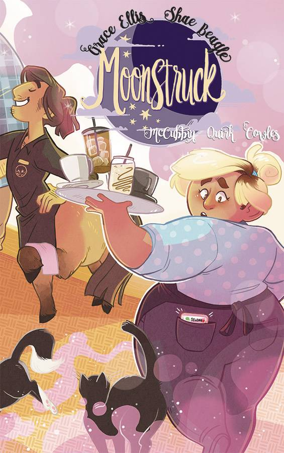 Moonstruck #1 - Gib's PickGrace Ellis (Lumberjanes) and Shae Beagle take us to an enchanting and beautiful new world.  Moonstruck starts out introducing us to two baristas, best friends going through the awkward first stages of relationships.  Their world is fantastic, and Shae Beagle's art makes it infinitely comfortable.  The supporting cast is interesting and has massive potential for long term fun.  What a great start to a hopefully long running series.