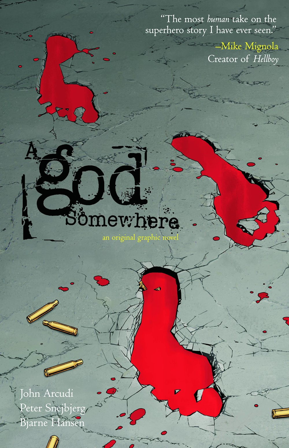 A God Somewhere - Mike's PickExploring religion, racism, morality, and family dynamics, A God Somewhere by John Arcudi (Rumble) and Peter Snejbjerg (Starman) is a bit of a hidden gem.  Initially published as an OGN by Wildstorm in 2010, this Vertigo book explores what happens to an everyman when he's inexplicably bestowed with godlike powers.  Existential and ambiguous, this violent and moody tale tracks the downfall of the ubermensch and the impact he has on his friends and family as his powers lead to alienation and mass murder.  A God Somewhere asks many questions but, I think, leaves it to the reader to decide if there are any answers.  If you don't want to look that deep, though, the book still offers a solid sci fi story told well.  Recommended for fans of Watchmen, Astro City, and Philip Wylie's novel, Gladiator.
