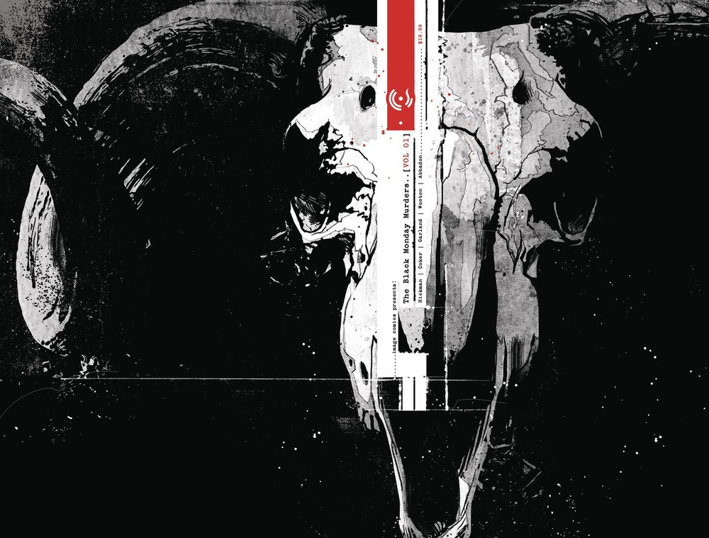 Black Monday Murders TP Vol 1 - Mike's PickDo you like stories about secret and vastly powerful cabals?  How about dark gods influencing human history?  What about charts, graphs, redacted documents, voodoo, and strange alien alphabets?  Combine these elements and filter them through the mind of Jonathan Hickman (East of West) and you get Black Monday Murders.  This densely plotted ongoing series from Image is as enjoyable as it is inscrutable.  I've eagerly devoured every issue and I'm still not entirely sure what is happening.  That's okay, though, as the mystery of it all draws you into the world.  Economics and mysticism make for weird bedfellows but like a French fry in a Frosty, it's surprisingly tasty.  Additionally, scratchy yet realistic art by Tomm Coker (Blood & Water) brings a verisimilitude to the altogether unsettling proceedings.  This book is unconventional, cerebral, and a little creepy.  Most importantly, though, it's fun.  Give it a try, the first volume is available now.