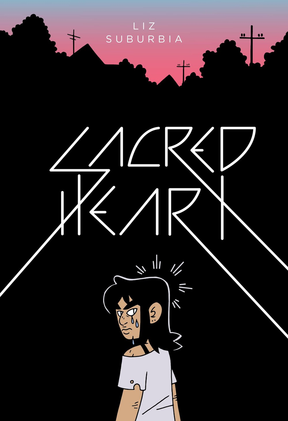 Sacred Heart GN - Lauren's PickWhat if all the adults vanished? This fascinating graphic novel takes a teenage fantasy to extremes, twisting it to unveil the horror lurking beneath an idea every adolescent has daydreamed about. Ben Schiller, her younger sister Empathy, and their various underage peers are the only remaining residents of their small town. As the kids go through the motions of normal life—parties, school, personal dramatics—writer/artist Liz Suburbia drops hints of something sinister. Without teachers the school is simply a gathering place, attendance part of a routine that the characters cling to. Ben passes a dead body on her way home, news that is met with little more than a shrug when she reports it to her friends. References to parents returning are sprinkled through conversations at parties, and everyone seems to be waiting for something. But what? This semi-apocalyptic tale is driven by its characters, each developed as much in silent montage as in the plot of the story itself. Suburbia executes each panel masterfully in black and white, with an attention to detail that will have you wanting to read this book again as soon as you make it to the big reveal on the last page.