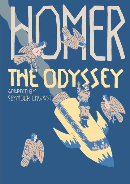 The Odyssey adapted by Seymour Chwast - Lauren's PickLegendary designer/illustrator and co-founder of Push Pin Studios Seymour Chwast takes on another classic with this graphic novelization of Homer's Odyssey. Though it's a story that many cartoonists have spun, Chwast's interpretation is striking in both its visual irreverence and its narrative faithfulness to the source material. Ships become rockets and the Trojan horse is a giant robot, but the text of the story itself would pass muster at least as a Spark Notes version of the original epic poem (with maybe slightly less passages about how Odysseus is the manliest man to ever man, sorry if that's what you're after). Chwast brings the Odyssey to life and revels in its idiosyncrasies! I like it a lot and so will you if you're cool.