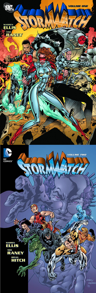 Stormwatch TP Vol 1 & 2 - Mike's PickTo my mind, the first modern superhero book showed up in 1999 when Warren Ellis (Planetary) and Bryan Hitch (Justice League) unleashed The Authority.  Effortlessly wiping away the shallow, extreme '90s era, they provided the thrilling widescreen template that would go on to influence not just superhero comics, but their cinematic counterparts as well.  However, seemingly overlooked is Ellis' precursor, Stormwatch.  Before Ellis arrived, the book was just another forgettable Image/Wildstorm book.  Ellis, in conjunction with Tom Raney (Outsiders) and, later, Hitch, breathed snarky, violent life into the book.  Crafting tales that mixed subversive superhero clashes with black ops intrigue, Ellis turned the book from perpetual quarter bin dweller to a must read.  His characters participated in high stakes international operations and then got together to have drinks together afterwards.  Introducing fan favorites like Midnighter, Jenny Sparks, and Jack Hawksmoor, Ellis laid waste to the mainstream superhero status quo, eventually paving the way for Stormwatch to morph into The Authority and its discussion of responsibility, power, and morality.  Much to my excitement, Ellis has recently returned to a rebooted Wildstorm universe with The Wild Storm.  Check that series out to see how some of the same themes are being explored by an older and wiser (but no less acerbic) Ellis.  Also, for you completists and collectors, Ellis and Columbus resident Chris Sprouse (Tom Strong), crafted the crossover one-shot WildC.A.T.s/Aliens that takes place near the end of the run and truly cleared the decks for The Authority.  It is not included in either collection due to licensing rights.