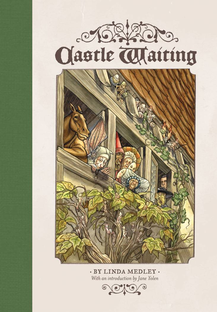 Castle Waiting GN Vol 1 - Lauren's PickWriter/Art: Linda MedleyThe story of Sleeping Beauty leaves a lot of questions unanswered. When everyone in the castle fell asleep, what happened to those who happened to be running errands outside the boundaries of the sleeping spell? When the enchantment was broken and the princess rode off into the sunset, what became of the people who were left behind? This is just the prologue of Castle Waiting, a feminist fairy tale. Writer and artist Linda Medley builds a world inspired by classic stories and populates it with women of modern sensibilities making their respective ways. I could read these two graphic novels again and again!