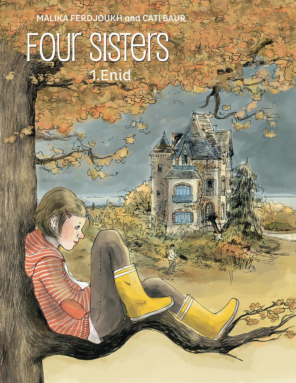 Four Sisters HC Vol 1 - Lauren's PickWriter: Cati BaurArtist: Malika FerdjoukhThe recently-orphaned Verdelaine sisters live in a constant state of controlled chaos of their family estate, built by an ancestor on the cliffs overlooking the Atlantic Ocean. Enid is the youngest at nine and often feels ignored by her older siblings, absorbed as they are in their own storylines. Instead she occupies herself with animals, outdoor adventures, and speaking with the ghosts of her dead parents. Yes, you read that right. Artist Malika Ferdjoukh adapts Cati Baur's novels in a gorgeous and whimsical style, developing the unique personality of each Verdelaine with every stroke of her pen. This graphic novel is the first in a series, and I eagerly anticipate the release of the next installment!