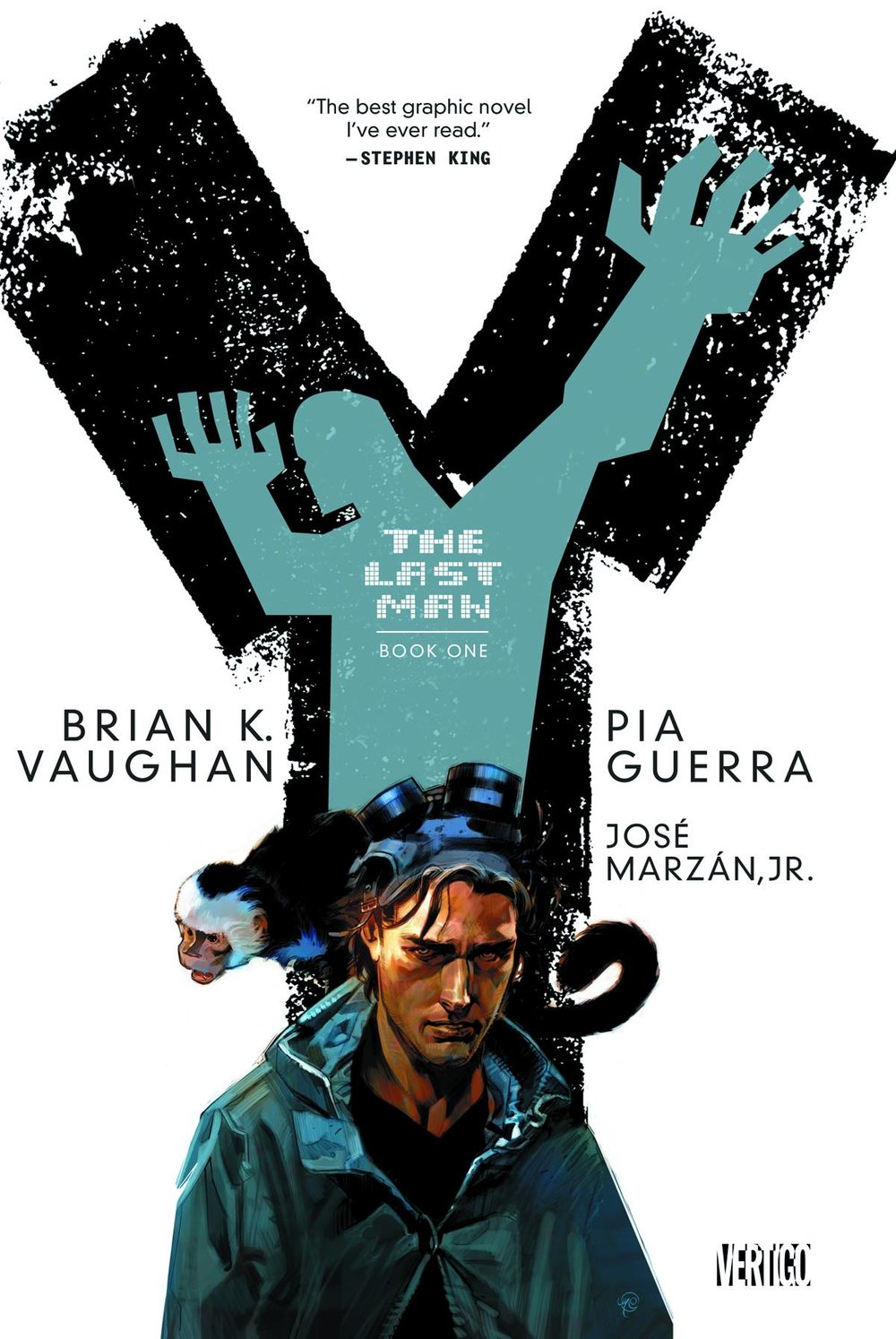 Y the Last Ban TP Book 1 - Mike's PickWriter: Brian K. VaughanArtists: Pia Guerra, José MarzanIn 2002, Brian K. Vaughan (Saga, Paper Girls) and Pia Guerra (Spider-Man Unlimited) unleashed Y the Last Man on an unsuspecting world.  It almost immediately became my favorite series, at the time.  The Vertigo series explores a world where all male mammals were killed off by a mystery plague except for one man and his pet monkey.  The potential for cheese or camp was high.  Instead, this post-apocalyptic tale opted for a more thoughtful nuanced approach.  What militaries would still be operational?  Would governments be able to maintain order or would the world fall to chaos?  What would be the impact on religion, culture, and class structures?  Additionally, gender politics are front and center, making the book seem especially relevant still.  It's not all just subtext and speculation, though.  This is a wonderfully character centric book.  Yorick, Agent 355, and Dr. Allison Mann, along with a cadre of notable supporting characters, are fleshed out in detail.  The fantastic premise is grounded by the authenticity of our leads.  Completed in 2008, the series is available in its entirety in five very affordable volumes.  It receives my highest possible recommendation.  Please note, though, that Y the Last Man is intended for mature readers as it contains harsh language, adult themes, and frank depictions of sexuality and violence.