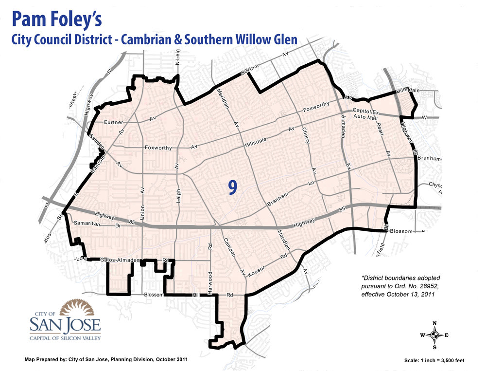 Only Willow Glen residents in the southern part of  Willow Glen can vote for me. -- But even if you are outside of District 9, I could use your help getting elected.