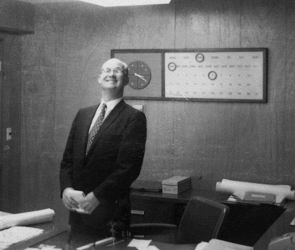 Gene Foley of E. F. Foley & Co., Lincoln Ave. circa 1960