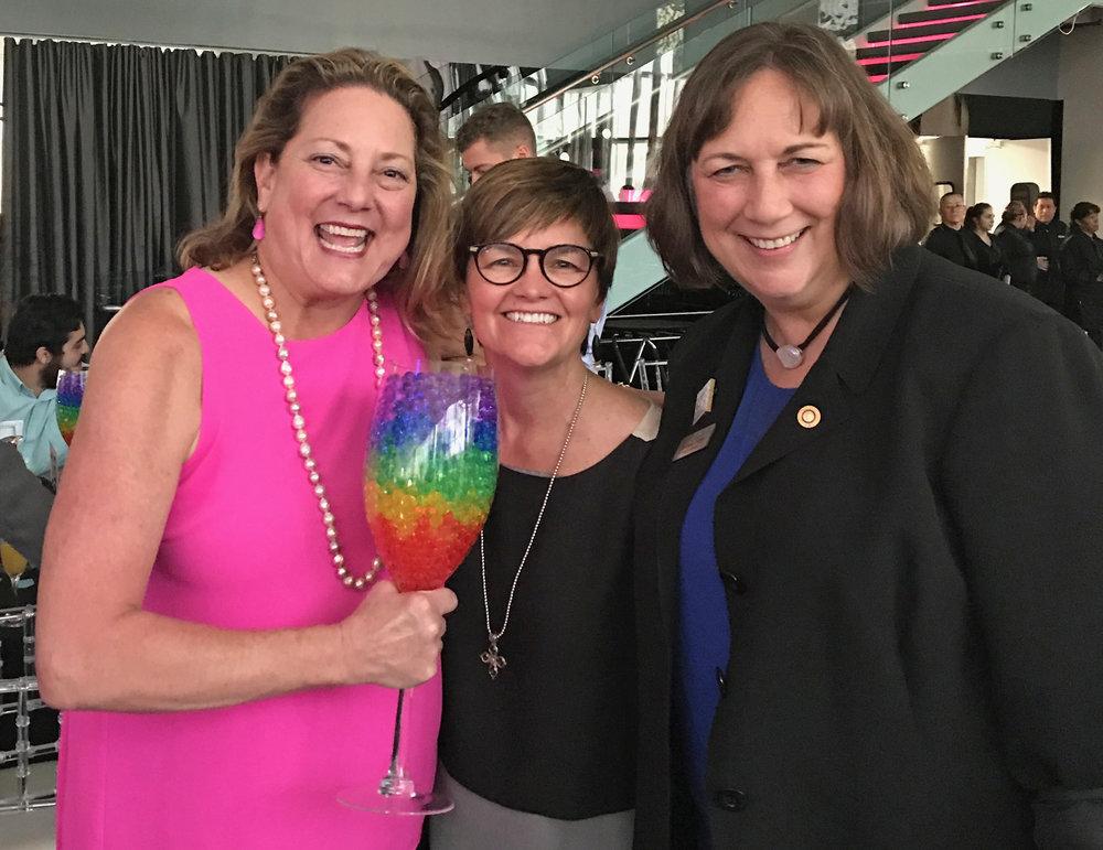 Anne Hansen (Rainbow Chamber), Paige Price (Teacher) & Pam