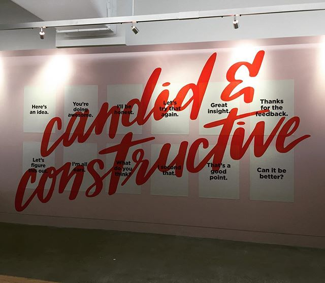 Super fun project we did for nerdwallet. #mural #corporate #design #handlettering #poster #wedidit #technology