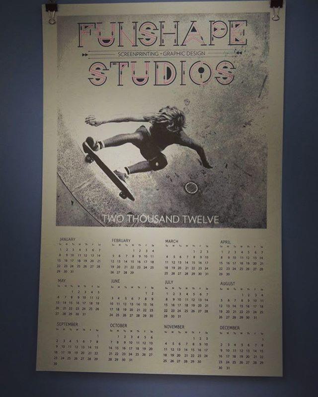Old Funshape Studios calendar circa 2012.