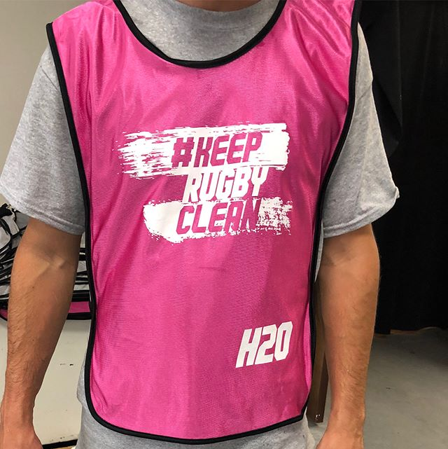 Keep rugby clean! Printed these jerseys for the staff at Rugby World Cup Sevens.