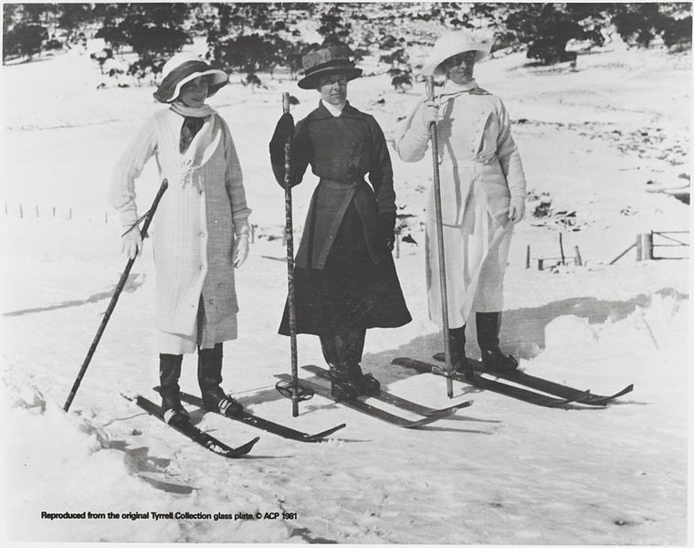 Three_women_on_skis,_Snowy_Mountains,_New_South_Wales,_ca._1900_(9290370708).jpg