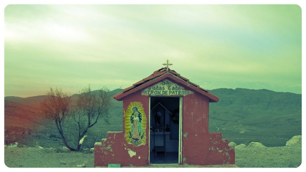 On the border of Ojinaga Mexico and Presidio, Texas