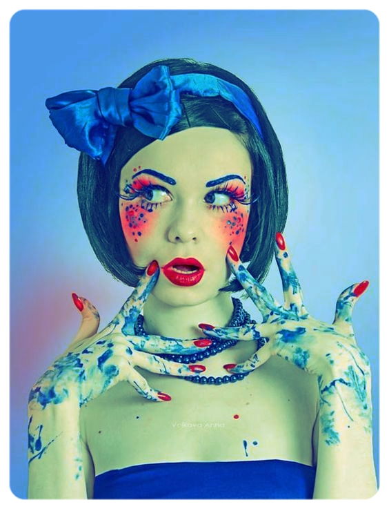 """""""She's oh so pretty, but her hands are filthy with indiscrimination.""""  Photo - The Blue Girl, by Anna Volkova. via UFUNK"""