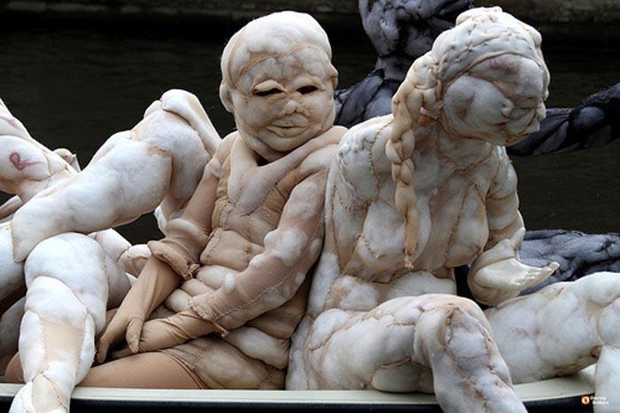 Grotesque Nylon Sculptures of - Rosa Verloop