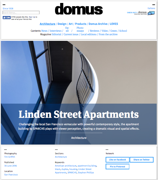 Domus features Linden St. Apartments