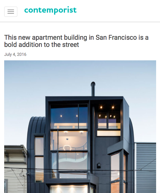 Contemporist features Linden St. Apartments