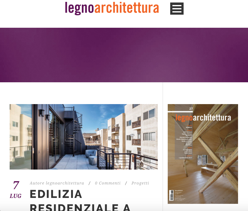 Legno Architettura features Linden St. Apartments
