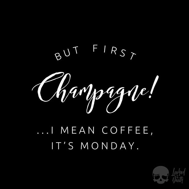Or time for champagne in a coffee mug, because Monday 🍾☕️ #monday #champagneplease