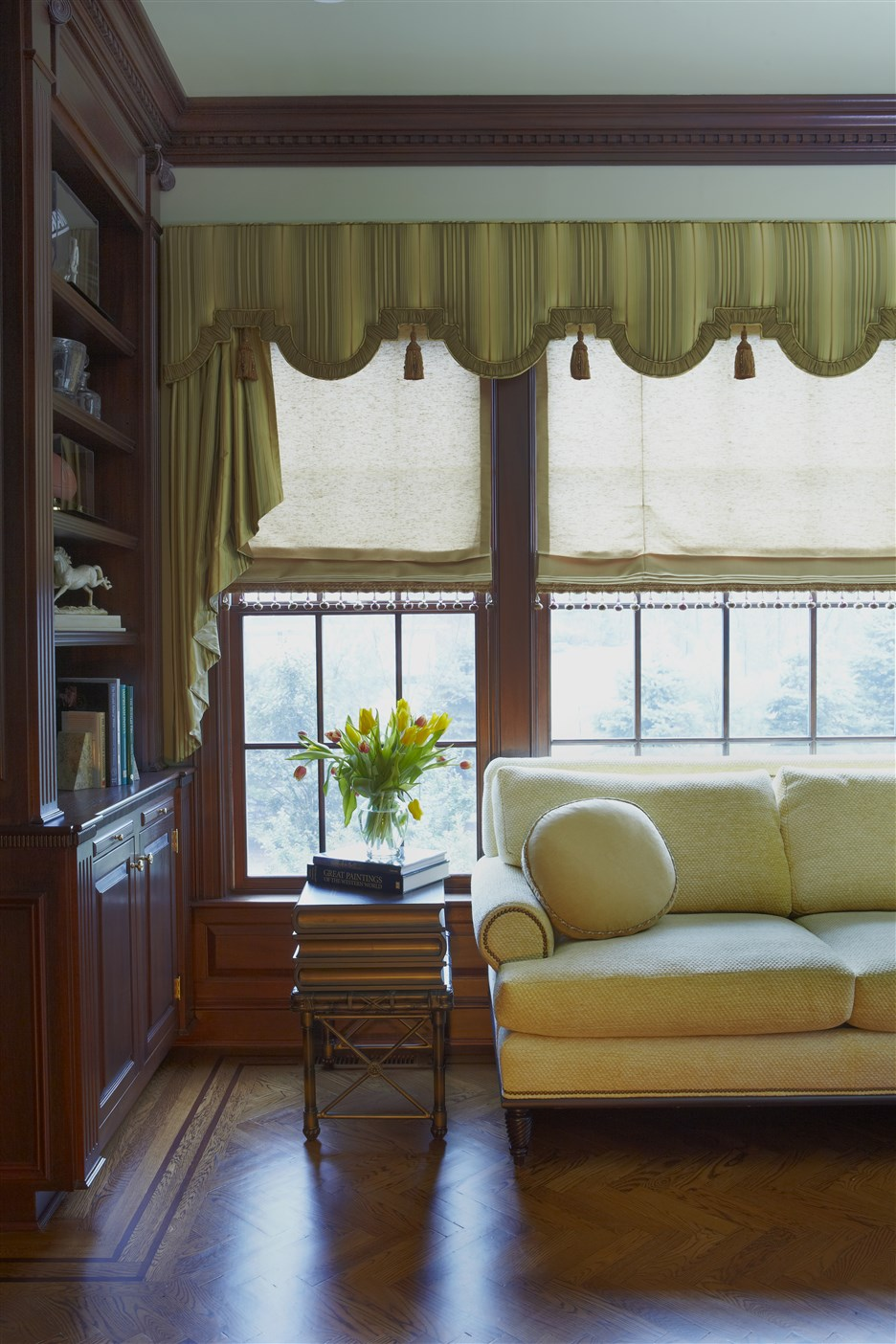 Living room with wide windows