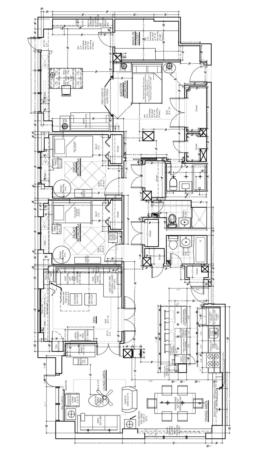 Floor plan for interior design