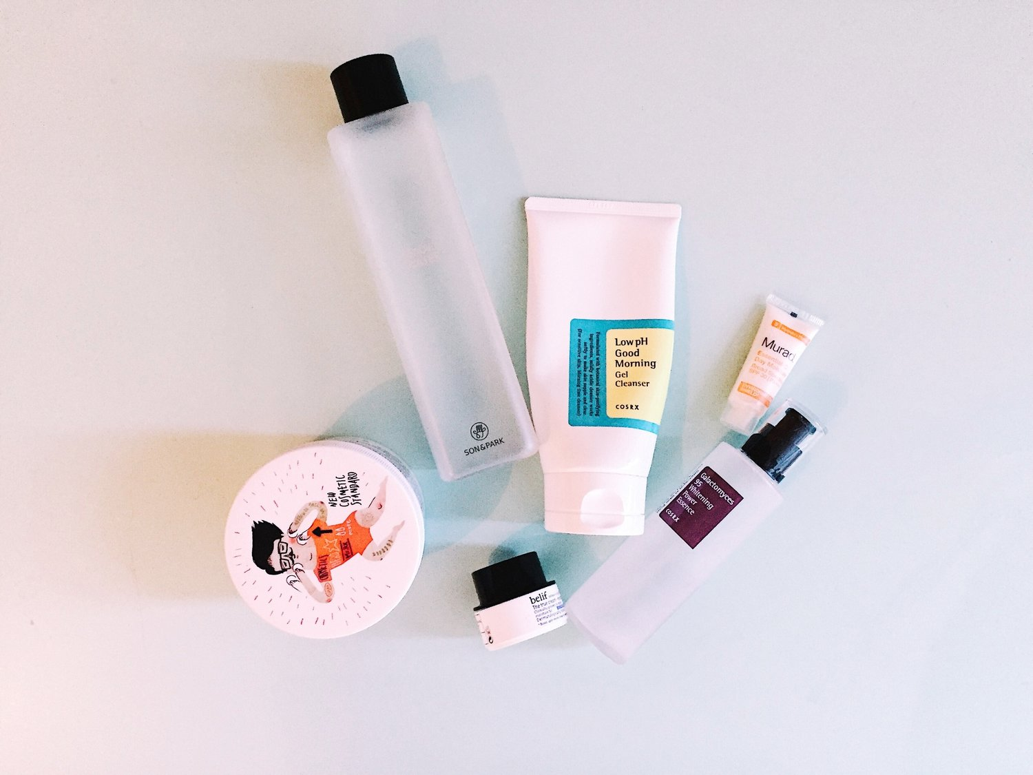 28df4850236 A mix of Korean and American beauty products for a daily Morning and  Evening Skincare Routine