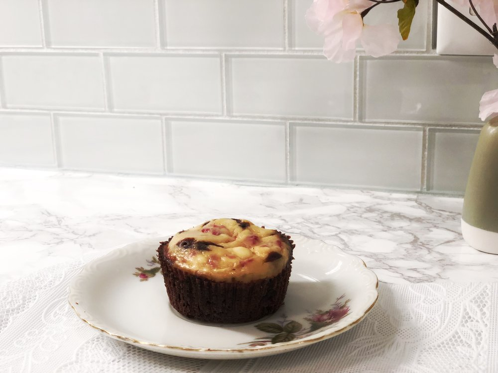Raspberry Cheesecake Chocolate Cupcake
