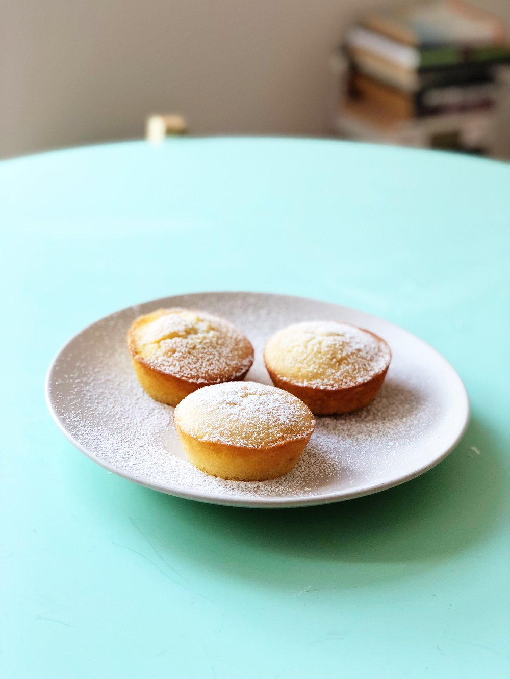 Mochi cupcakes with passionfruit filling