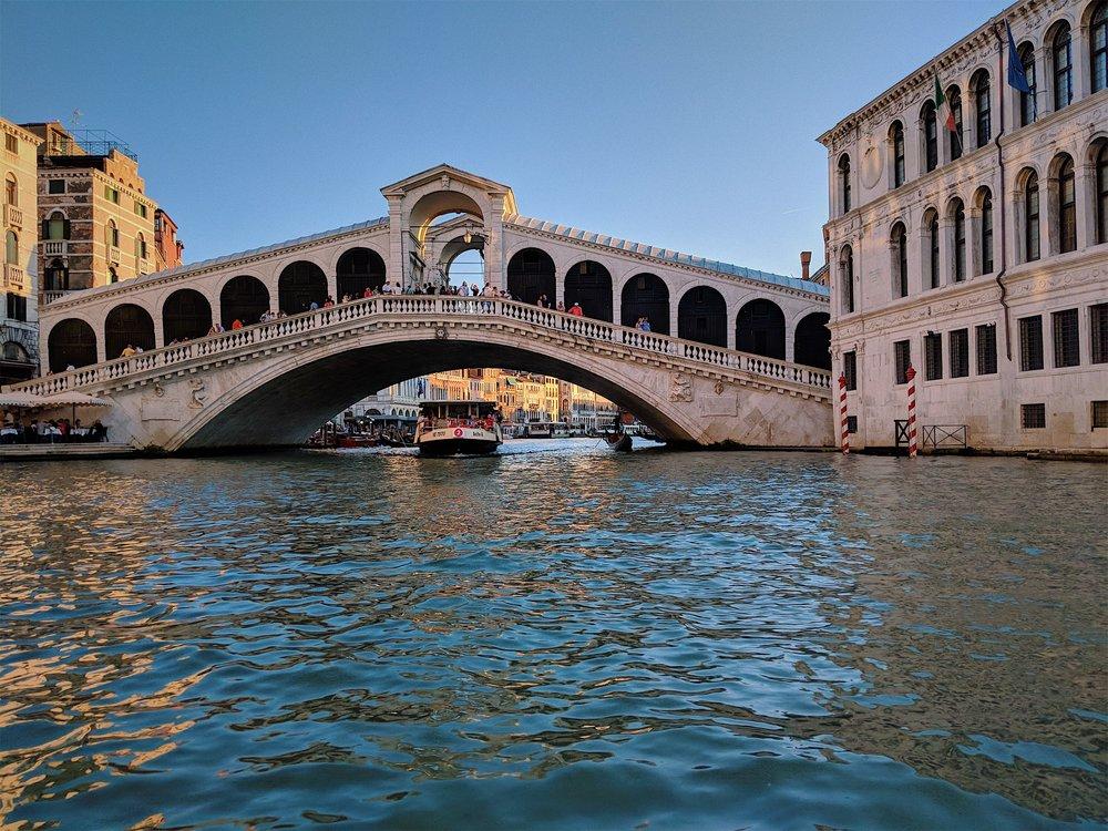 Gondola ride under the Rialto Bridge | Italy Travel Diary + Vlog Part 2
