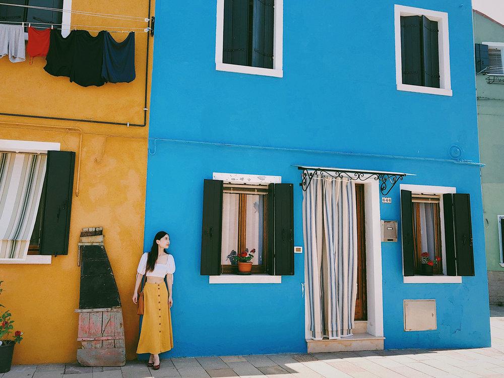 Wearing Eggieshop in Burano, Italy
