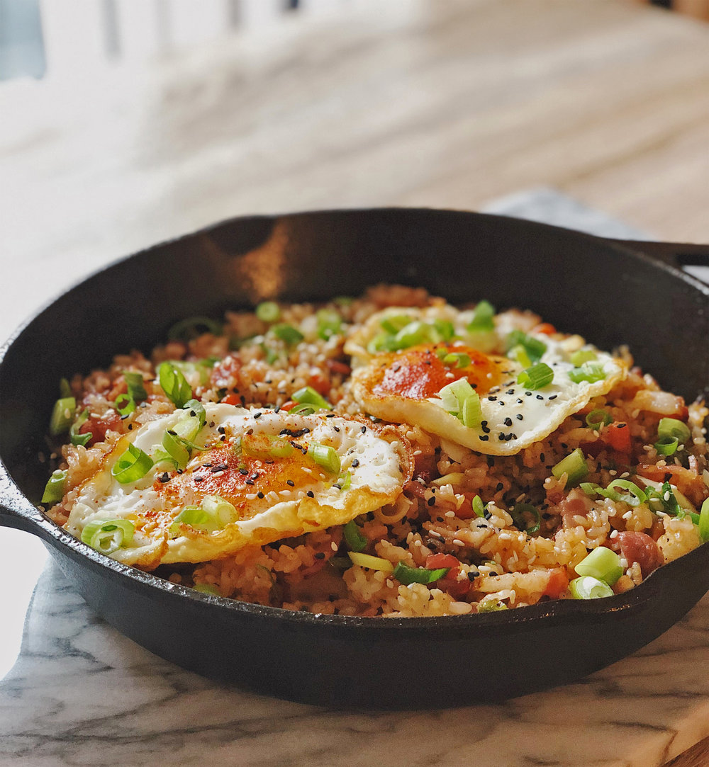 Cast Iron Bacon Fried Rice