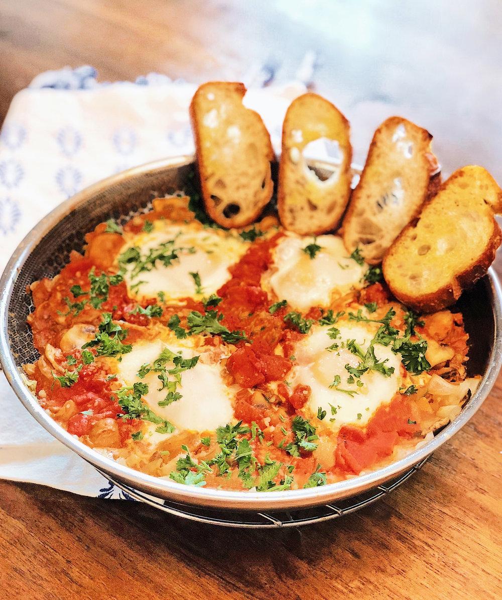 Shakshuka with Sausage and Mushrooms