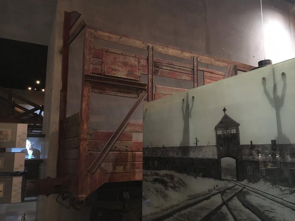 A cattle car used at Auschwitz-Berkenau