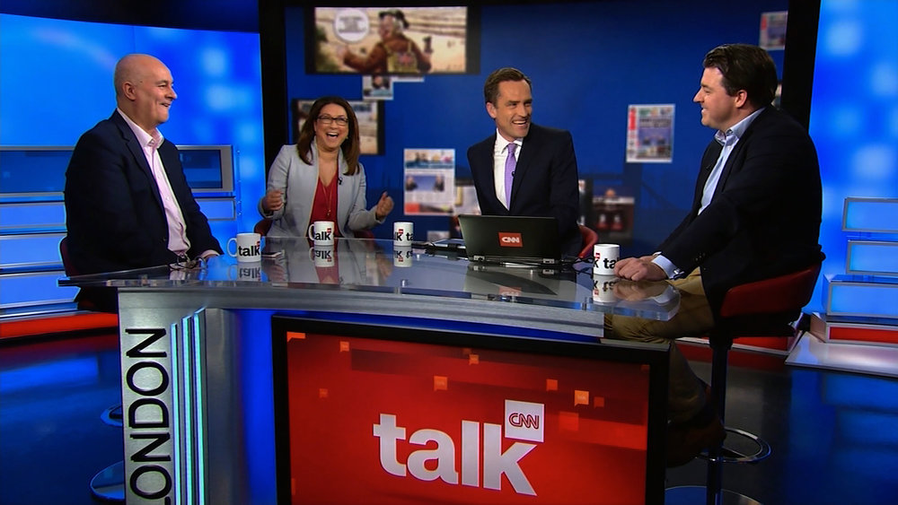 The  'CNN Talk with Max Foster'  set