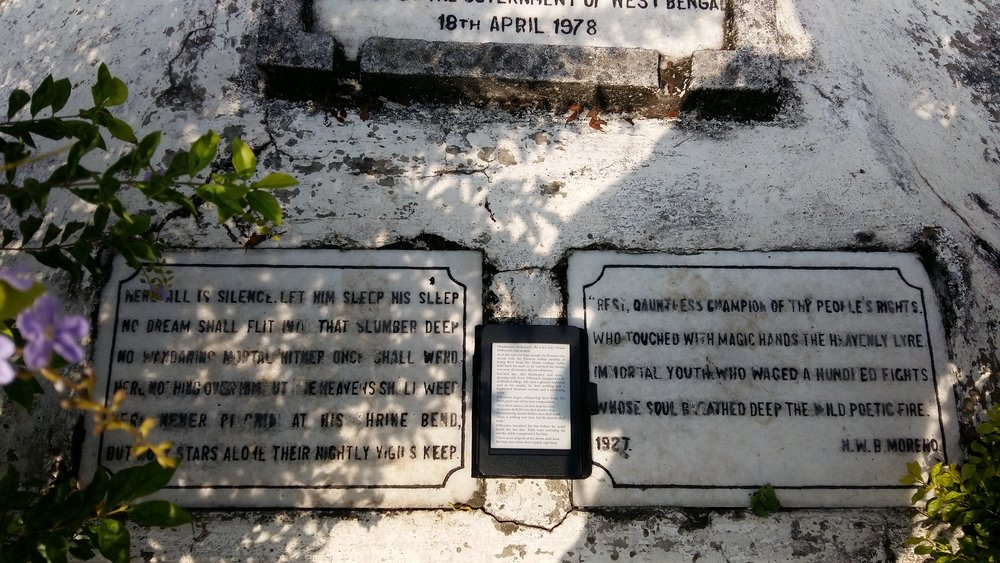 Tomb of Henry Louis Vivian Dezorio  Where: South Park Street Cemetery,Park Steet, Kolkata  Build: 1767