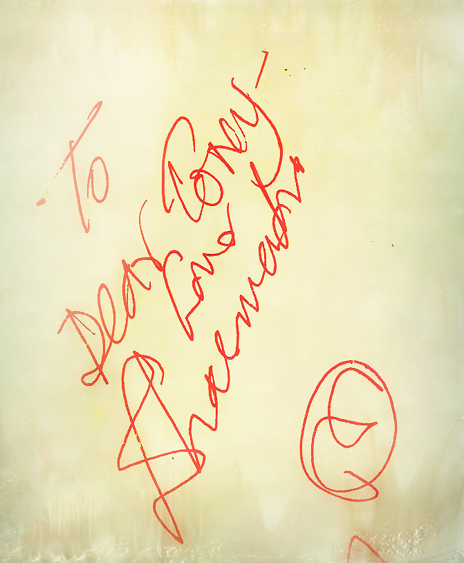 The Autograph of Dharamendra.