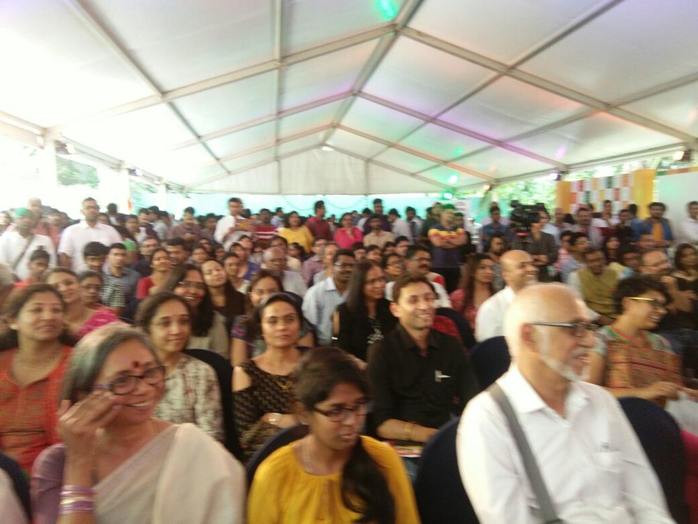 An engaged audience at the launch of The Autograph Seeker at The Bangalore Literature Festival