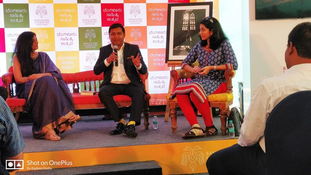 Session with the author, editor and publisher.