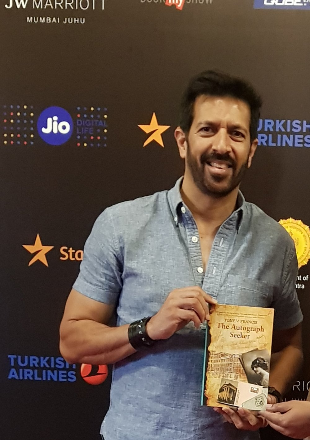 Kabir Khan, Indian Film maker with The Autograph Seeker at Jio Star MAMI Word To Screen 2018