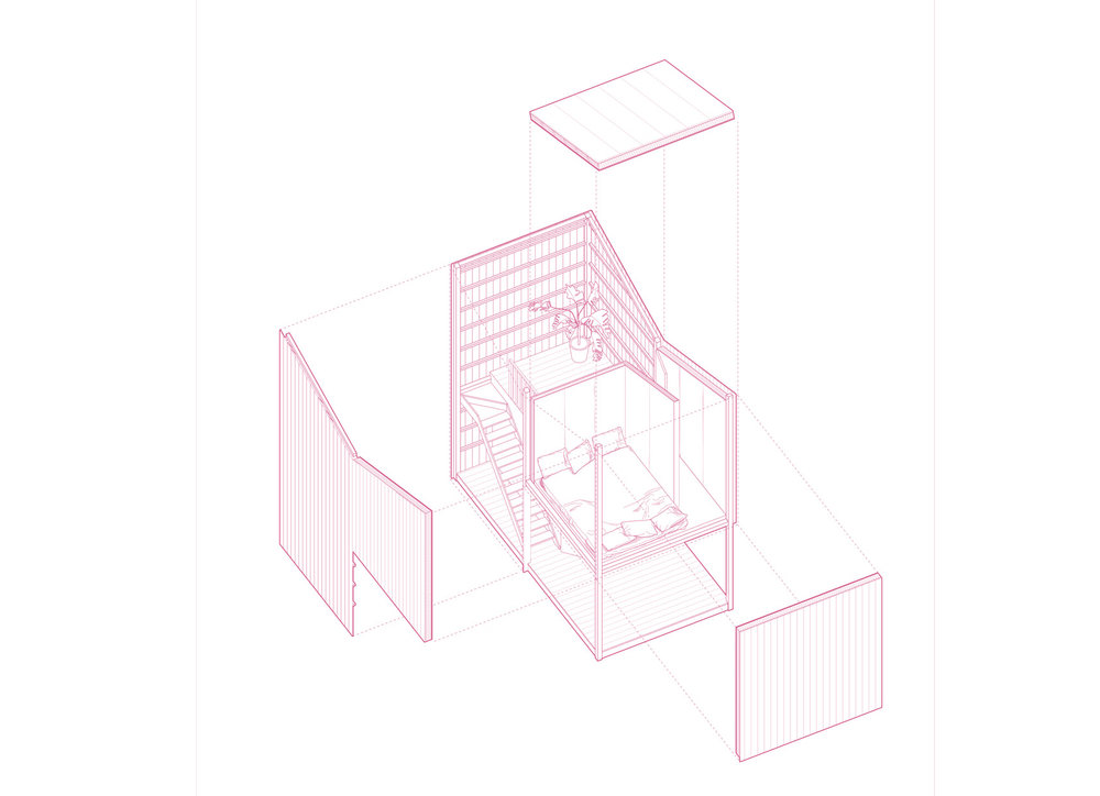 Silent Room 1 . Drawing   by BÜF architecture.